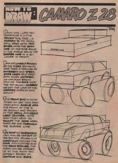 George Trosley - How to draw: Camaro Z28 - A