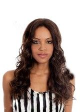 Fabulous Long Curly Brown Shade Bleached Knots Remy Hair Wig
