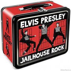 vintage metal lunch boxes | Elvis Jailhouse Rock Lunchbox