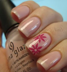 I started with 2 coats of China Glaze Diva Bride. Then I used one of my fave nail art supplies, my bigRuby Nail Tattoos. I cannot tell you guys just how much I love these.~Chloe's Nails...she went on to add black tips..but I kinda liked it this way =)