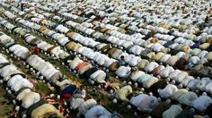 Muslims offer prayers in Allahabad, India, Saturday, Nov. 5, 2005.