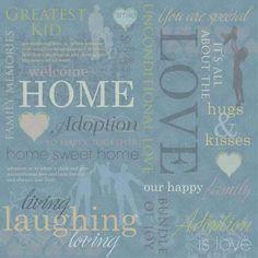 12 x 12 Paper - Adozione carta collage-album, carta, karen disegno adottivo, KFD, 64180, l'adozione, bambini, favorire