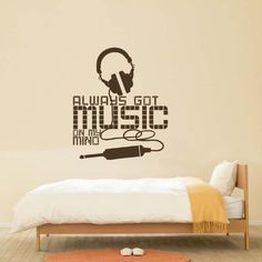 Music Notes Flowing Wall Decal Vinyl Wall Art Decal Custom - Wall stickers for bedrooms teens