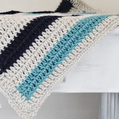 Simple Striped Crochet Blanket Pattern