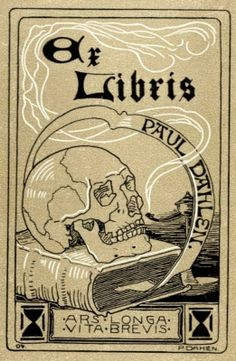 Ex libris by Paul Dahlen (Ger)(1881-1954) for Himself, 1904