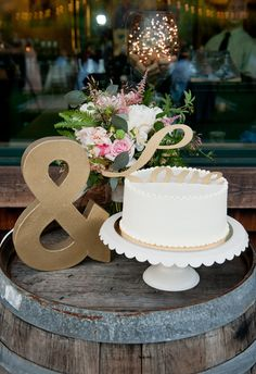 Jody and Garrett had the sweetest cake!