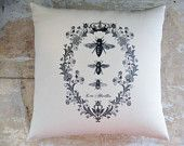 Bee Pillow, French Country Home, Cottage Decor, Shabby Chic, French Decor