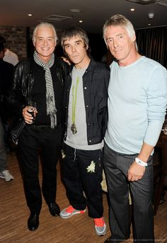 Jimmy Page, Ian Brown and Paul Weller