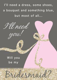 Will you Be My Bridesmaid Card, Bridesmaid, Funny ...