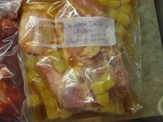 """Dump Recipes""- Recipes you can put in a freezer bag, freeze, then dump in your crockpot when you need it!"