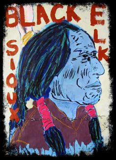 Tim Kerr's painting of Black Elk also available as a shop shirt!
