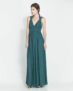 ZARA - WOMAN - LONG GATHERED DRESS