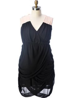 Fushia Love...Black and Pink Grecian Dress