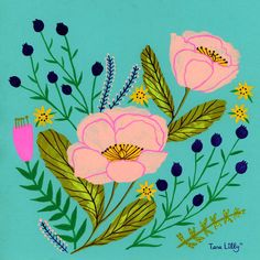 A selection of recent paintings. Type Illustration, Floral Illustrations, Gouache Painting, Watercolor Paintings, Abstract Flowers, Botanical Art, Pattern Wallpaper, Art Studios, Doodle Art