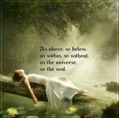 As above, so below.......