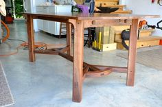 Walnut Version of the Arts and Crafts Hayrake table - Reader's Gallery - Fine Woodworking