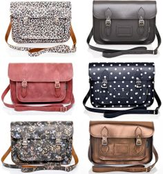 crossover bags in prints and colors
