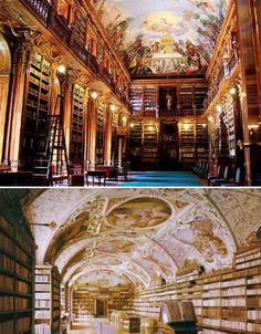 チェコ・プラハのストラホフ修道院図書館
