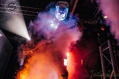 """Brock Richards of Starset looking totally epic at Showbox Sodo in Seattle on 6/3/17. Photo by """"Iron"""" Mike Savoia (via Facebook)."""