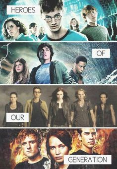Harry Potter; Mortal Instruments; Percy Jackson; The Hunger Games. < Don't forget Divergent; Vampire Academy; LOTR, Hush Hush; Narnia; Game Of Thrones and many more! I want a edit with all of them.