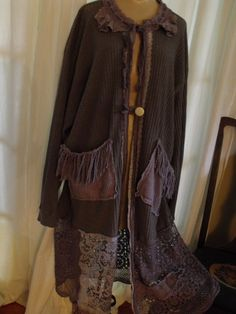Plus Size Crochet  Lace and Fringe 3X Sweater Coat by SheerFab, $195.00