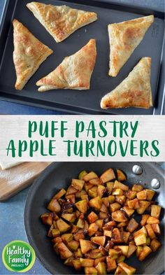 These apple turnovers are so easy to make for a quick treat your family will love. Apples are cooked with a little brown sugar and cinnamon, wrapped in puff pastry and baked to golden perfection. Frozen Puff Pastry, Puff Pastry Sheets, 4 Ingredient Recipes, Apple Turnovers, Thing 1, Fresh Apples, Baked Apples, Healthy Dessert Recipes, Kid Friendly Meals