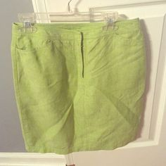 Light lime green pencil skirt Charter Club light green pencil skirt with front and back pockets. Goes great with a light blouse and heels for work. Worn once! Charter Club Skirts Pencil