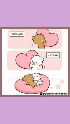Cute Cartoon Pictures, Cute Love Pictures, Cute Love Cartoons, Cute Bear Drawings, Funny Drawings, Cute Gay Couples, Cute Couples Goals, Polar Bear Cartoon, Bear Gif