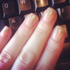 #glitter #tips #nails #nailart