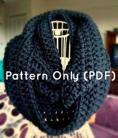 Infinity Scarf Crochet Pattern Winter Scarf Pattern by CrochetbyYJ, $4.00