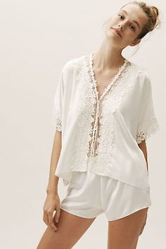 Rosa Camisole - BHLDN Blush floral lace featuring a feminine rose motif trims the bodice of this supple camisole.Pictured with Rosa Shorts Pajamas For Teens, Cute Pajamas, Pajamas Women, Satin Pyjama Set, Satin Pajamas, Pajama Set, Pyjamas, Womens Pyjama Sets, Luxury Lingerie