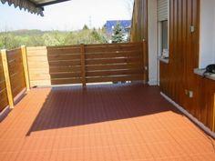 Bodenbelag für Balkon mit Bergo XL in terracotta - schwimmend verlegt