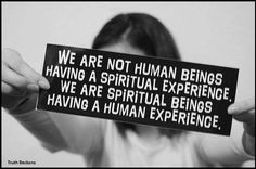 We Are Not Human Beings Having A Spiritual Experience. We ...