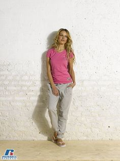 Russell Athletic Summer 2013 Ladies Collection #Russell #Athletic  #Russellbrands #Authentic #American #SportsWear #Apparel #Summer  #Collection #Sports #Wear #Sweatshirt #Womanswear Russell Athletic, Summer Collection, Sportswear, Khaki Pants, Normcore, Sporty, American, Sweatshirts, Lady