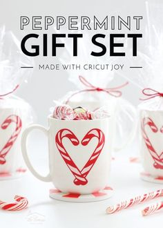 Peppermint Holiday Gift Set Made with Cricut Joy | The Homes I Have Made Diy Holiday Gifts, Easy Diy Gifts, Handmade Christmas Gifts, Homemade Gifts, Christmas Diy, Merry Christmas, Gifts For Husband, Inspirational Gifts, Diy Craft Projects