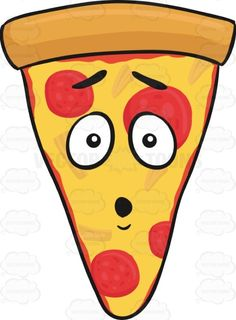 love struck slice of pepperoni pizza with hanging tongue. Black Bedroom Furniture Sets. Home Design Ideas