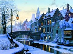 Winter evening in Brugges