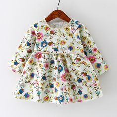 Find More Dresses Information about Autumn Baby Girl Dress Cotton Infant Dress Floral Print European Style Vintage Long Sleeve Toddler Dress Birthday Baby Clothes,High Quality infant dress,China cotton infant dress Suppliers, Cheap baby girl dress from Fashion Kids Wear on Aliexpress.com