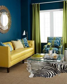 Youngsters Area Home Furnishings Massoud Bridgette Leather Sofa Colorful Couch, Colourful Living Room, Room Color Schemes, Room Colors, Living Room Designs, Living Room Decor, Sofa Design, Interior Design, Sofa Deals