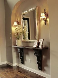 decorating Adding an Entry Way Table and How It Went from Drab to Fab How To Care For Crystal Gifts, Home Entrance Decor, Entryway Decor, Diy Home Decor, Narrow Entryway Table, Foyer Tables, Sofa Tables, Entry Table Decorations, Small Entry Decor, Entry Table Diy