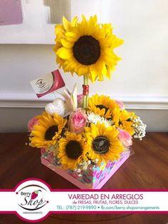 Flower Arrangement, Floral Arrangements, Sunflowers, Diy And Crafts, Birthday, Gifts, Gardens, Wedding Keepsakes, Floral Motif