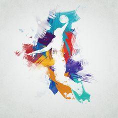 Basketball Player Digital Art Print by @aged