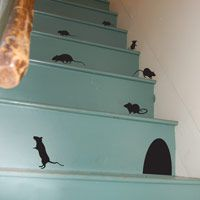 Scurrying Mice - Set of 12 - Wall Decals
