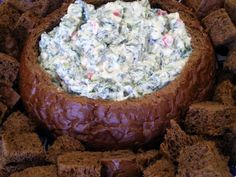 Knorr Spinach Dip recipe featured on DesktopCookbook. Ingredients for this Knorr Spinach Dip recipe include 1 package frozen chopped spinach, 2 cups sour cream, 1 cup Miracle Whip , and 1 package Knorr Leek Soupmix. Create your own online recipe box. Bread Appetizers, Appetizer Dips, Appetizer Recipes, Tapas, Pumpernickel Bread Dip Recipe, Knorr Spinach Dip, Chopped Spinach, Bread Bowl Dip, Recipe Sites