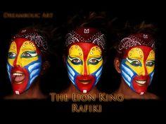 BROADWAY The Lion King RAFIKI    Make up Tutorial - YouTube Rafiki Lion King, Lion King Play, Lion King Jr, Rafiki Costume, Lion King Costume, Lion King Animals, Lion King Musical, Le Roi Lion, Theatre Makeup