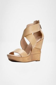 Opal Wedge -  DVF favorite, the Opal wedge is back for Spring in a crackle metallic and natural vacchetta. Pair with a Boymuda short and blouse for an effortless day look.