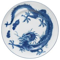 Gracious Style specializes in high end furnishings for your home, including fine linens, luxury dinnerware, and special gifts. Blue And White China, Blue China, Blue And White Dinnerware, Blue Desserts, Year Of The Dragon, Blue Dragon, Dragon China, Porcelain Dinnerware, China Plates