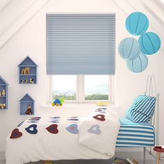 While we're happy to recommend this DuoShade blind for any room in the home, it's absolutely, positively perfect for the little one's bedroom