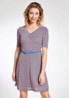 Retro jurk met grafische print