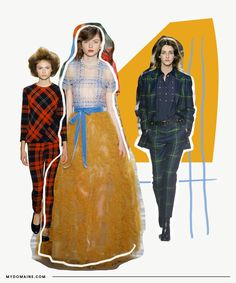 If you thought tartan was reserved for your ski-chalet fireside throws and believed buffalo check was only allowed on your Fourth of July barbecue table, think again. Checkered prints are back in. Fashion Forecasting, Fashion 2017, Fashion Trends, Girl Decor, Needful Things, Editorial Fashion, Fashion Beauty, Plaid, Tartan